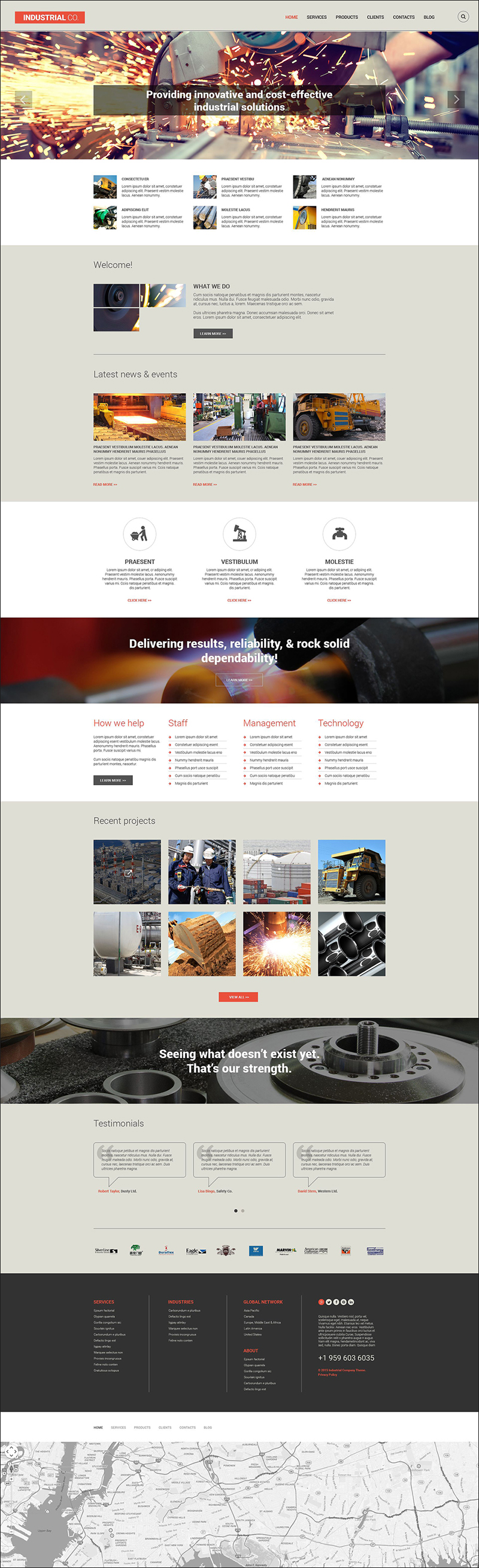 Industrial Drupal Template