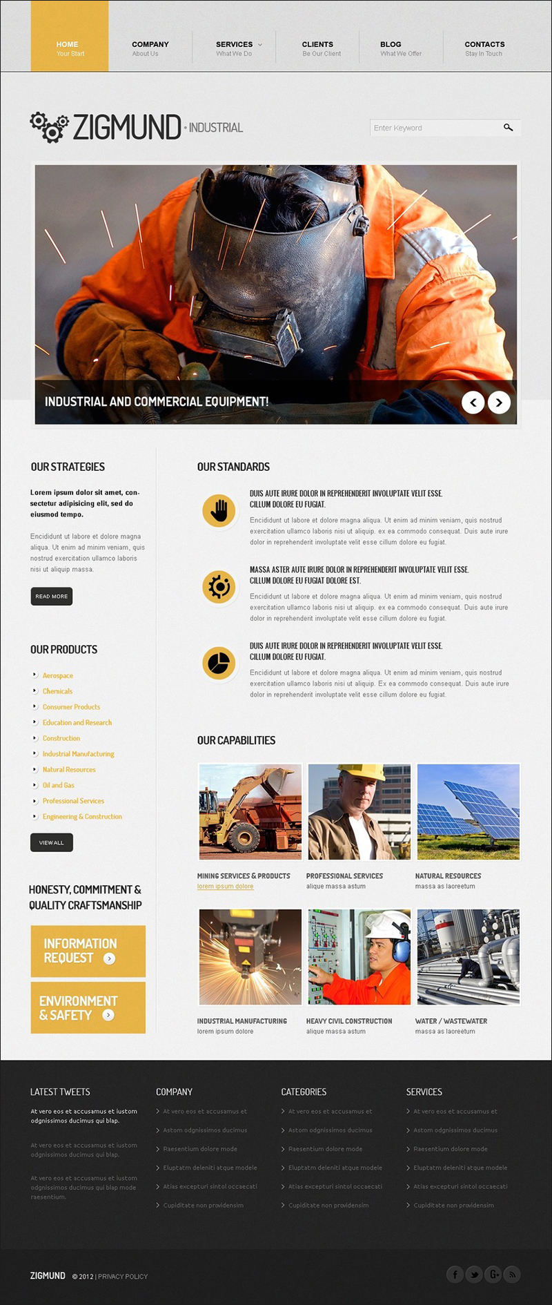 Industrial Manufacture Drupal Template