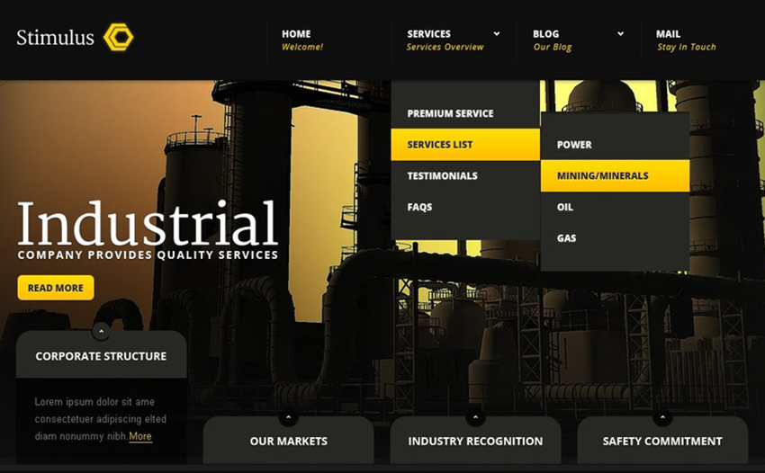 Industrial Site Joomla Template