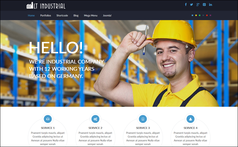 Industrial Website Joomla Template