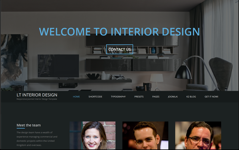 Interior Design Onepage WordPress