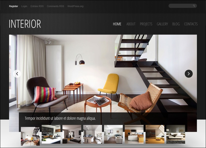 Interior Design WP Template