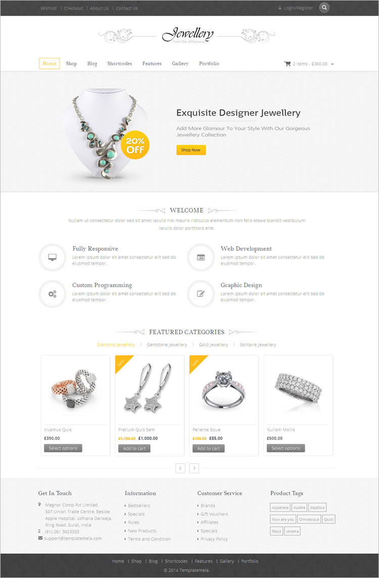 jewelry wordpress themes free premium templates. Black Bedroom Furniture Sets. Home Design Ideas
