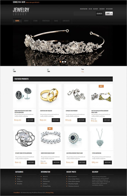 Jewellery WordPress Theme Free Download