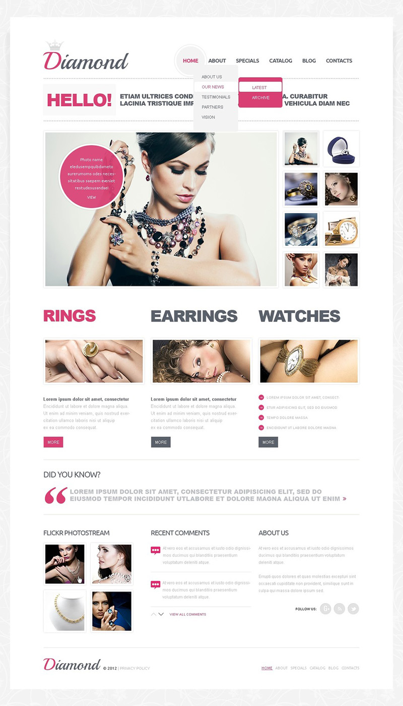 Jewelry Joomla Website Template