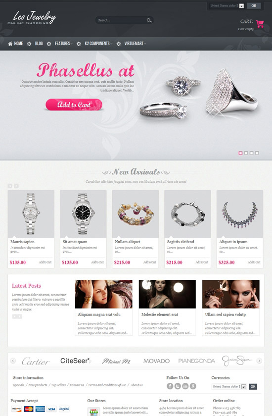Jewelry Online Shopping Joomla Template