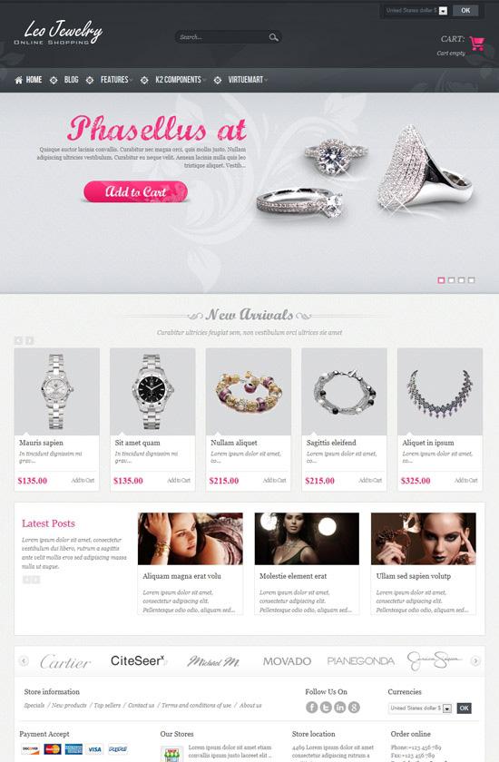 Jewelry Online Shopping Joomla Template