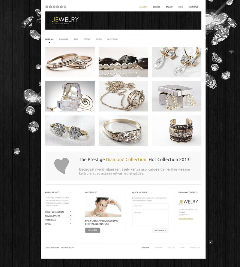 Jewelry Responsive Wp Template