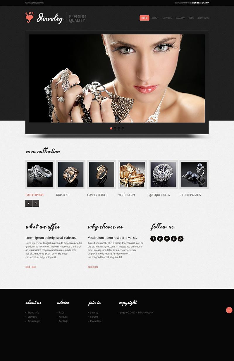 Jewelry Shop Joomla Template