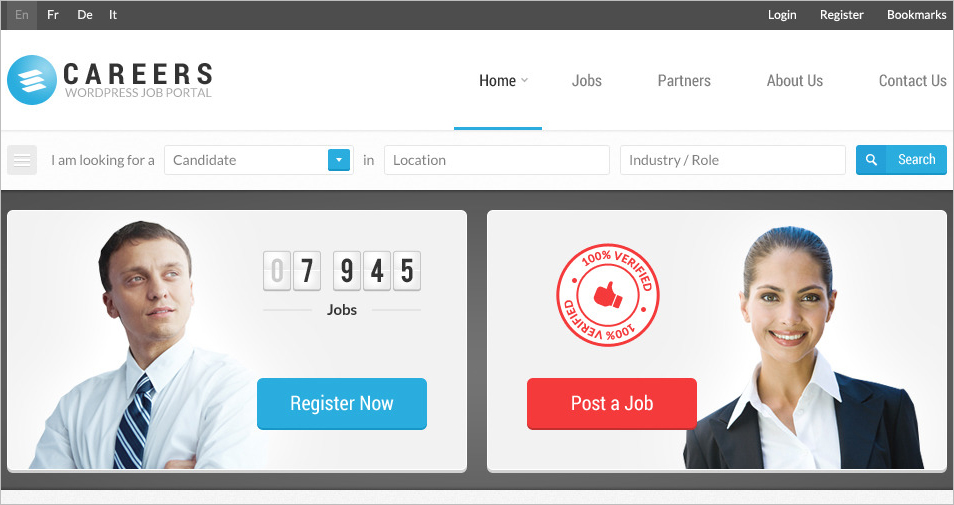 Job Portal & Candidate Database HTML Template