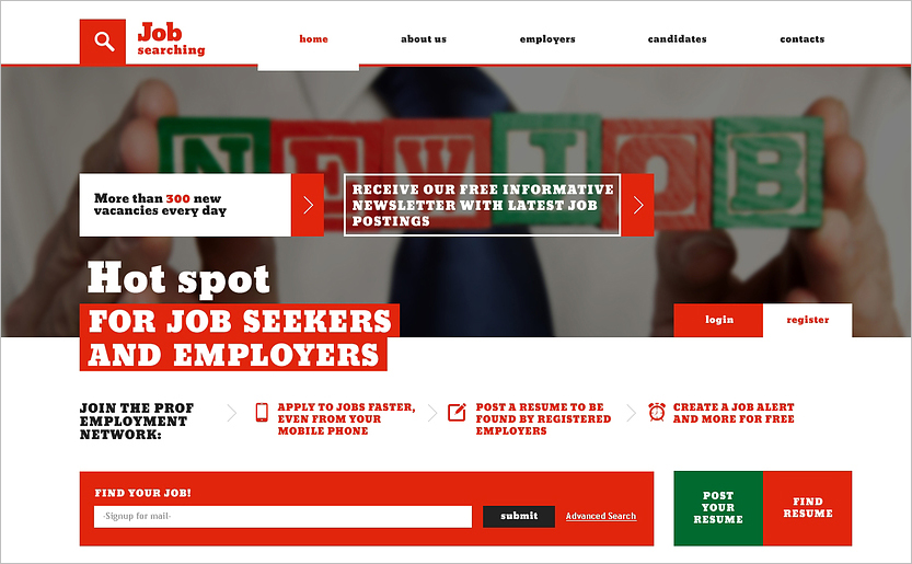 Job Portal Responsive Website HTML Template