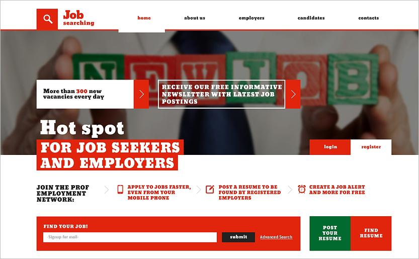 Job Portal Responsive Website HTML Template