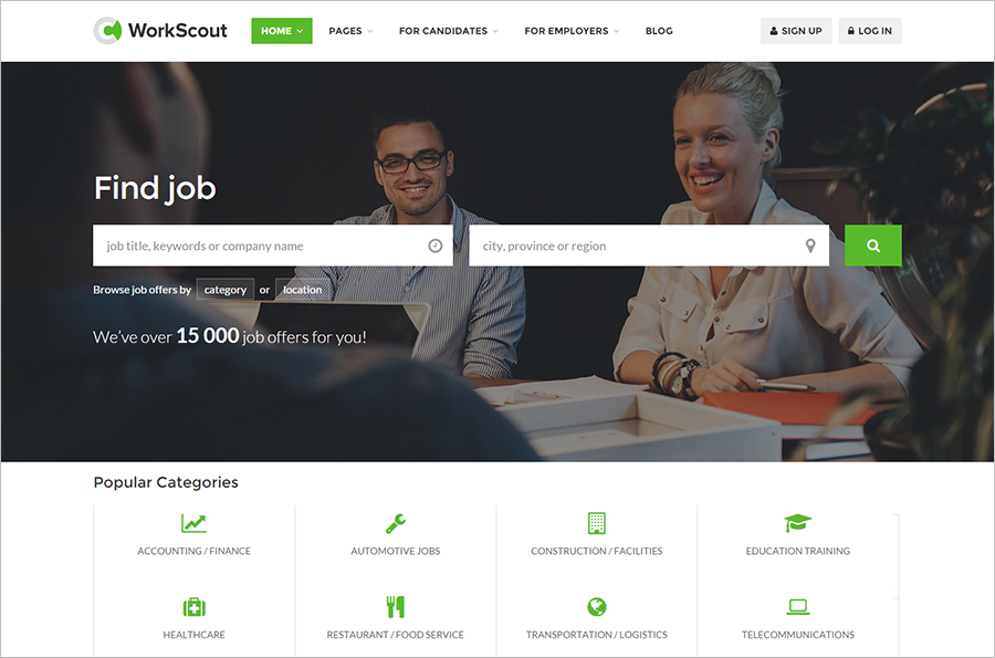 Job Portal Website Template Built On HTML5 & CSS3