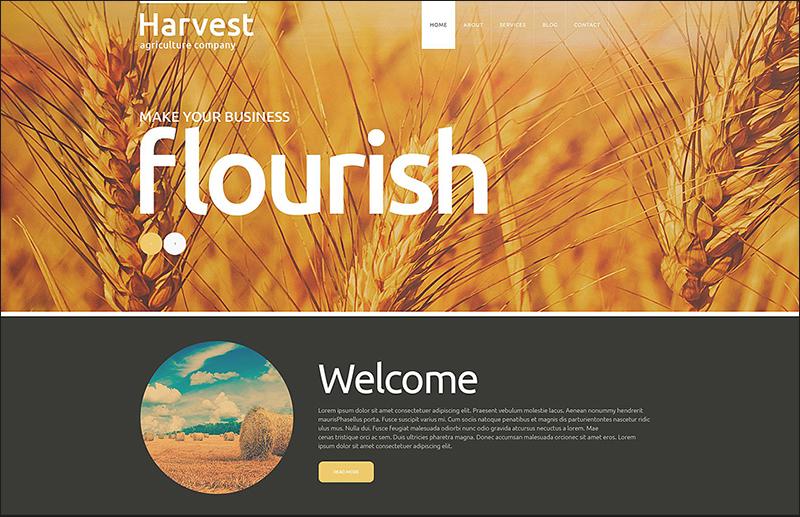 Joomla Agriculture Company Theme