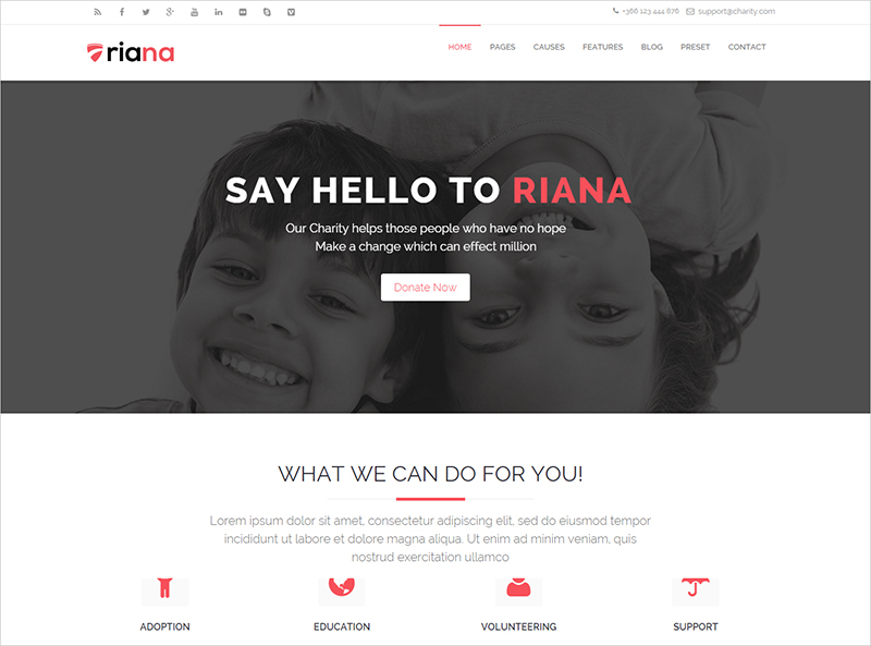 Joomla Charity Template