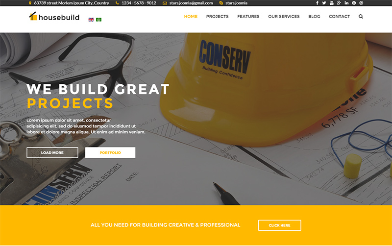 Joomla Construction Template