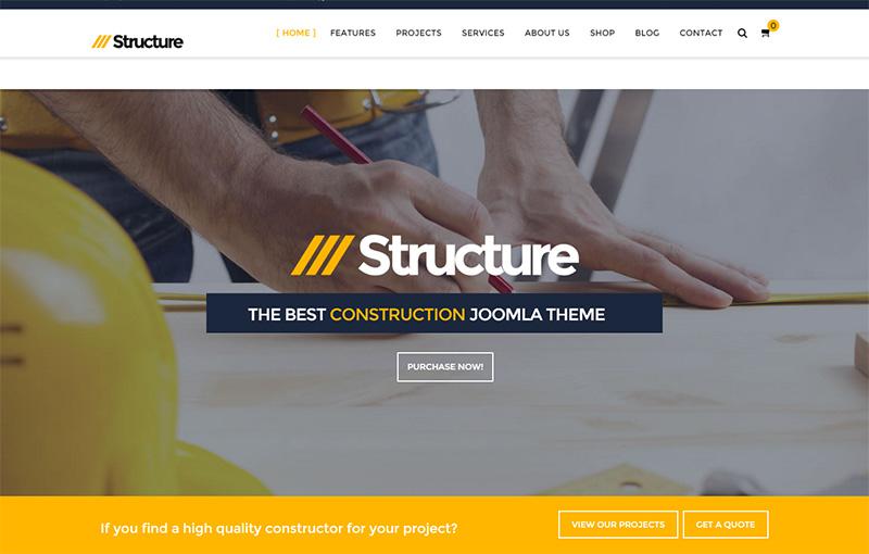 Joomla Construction VirtueMart Template