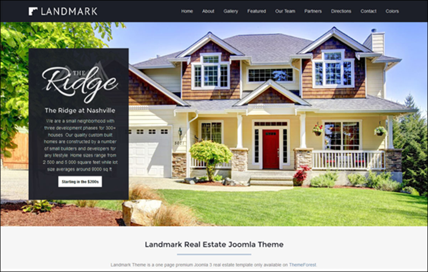 Joomla Dynamic Landing Page