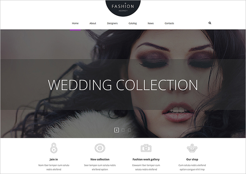 Joomla Fashion Agency Template