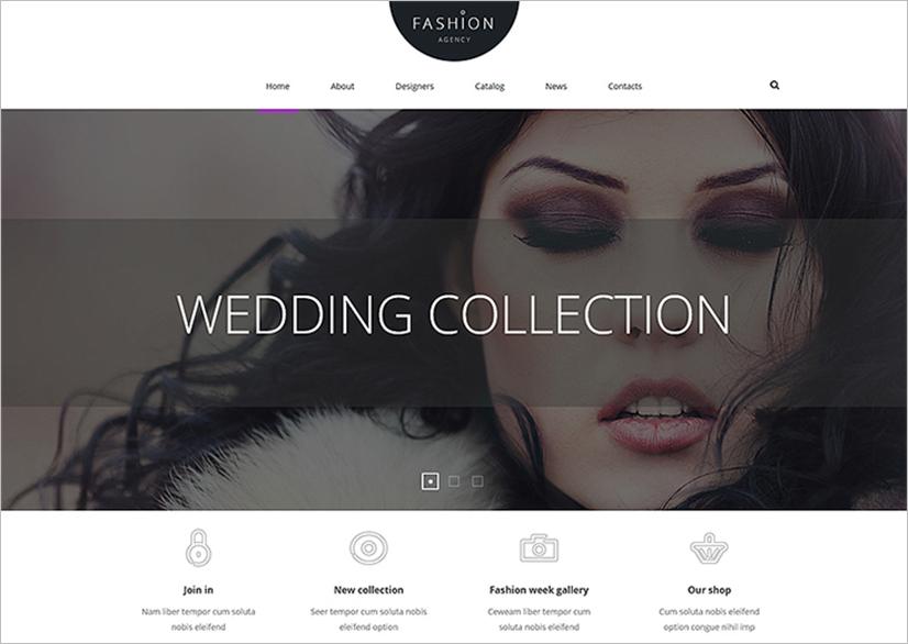 Joomla Fashion Agency Template