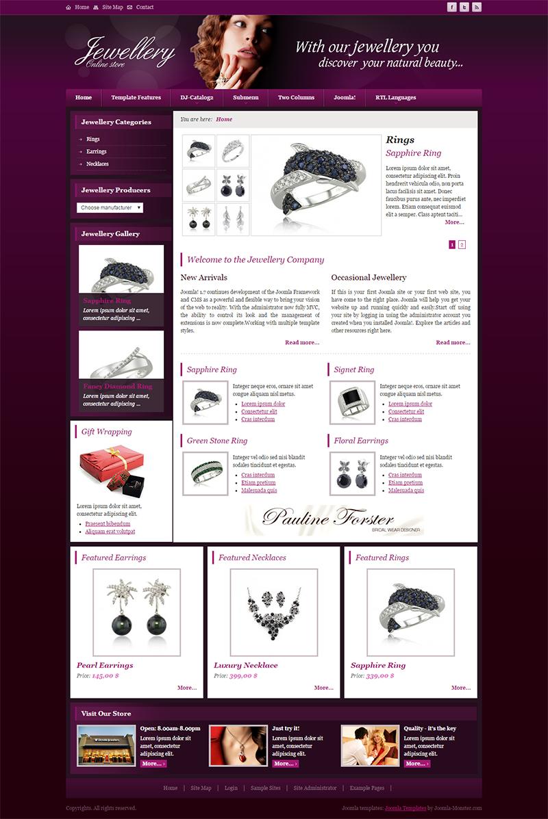 Joomla Jewelry Website Template
