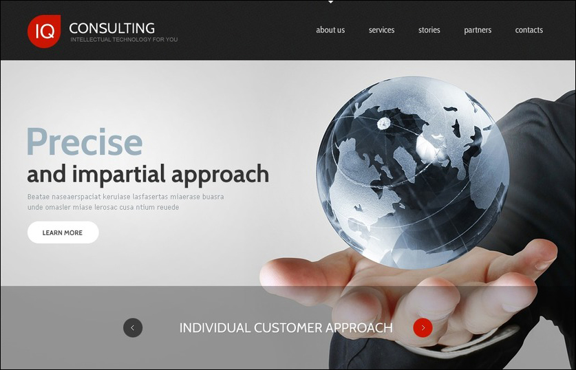 Joomla Site Template For Consulting Company