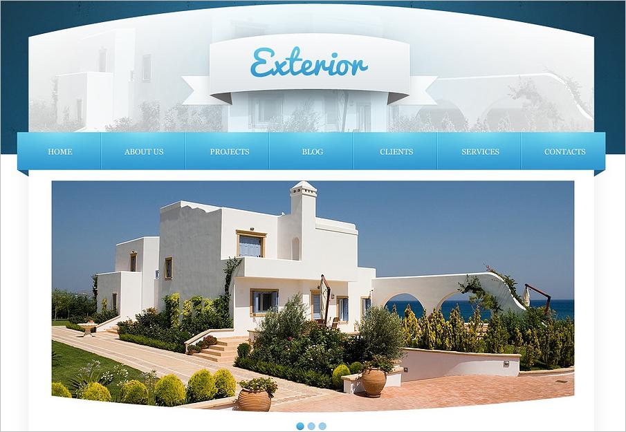 Joomla Template For Exterior Home Design