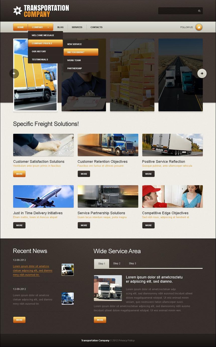 Joomla Transportation Website Template