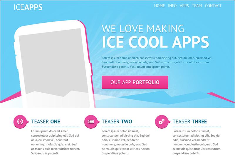 Landing Page PSD Theme