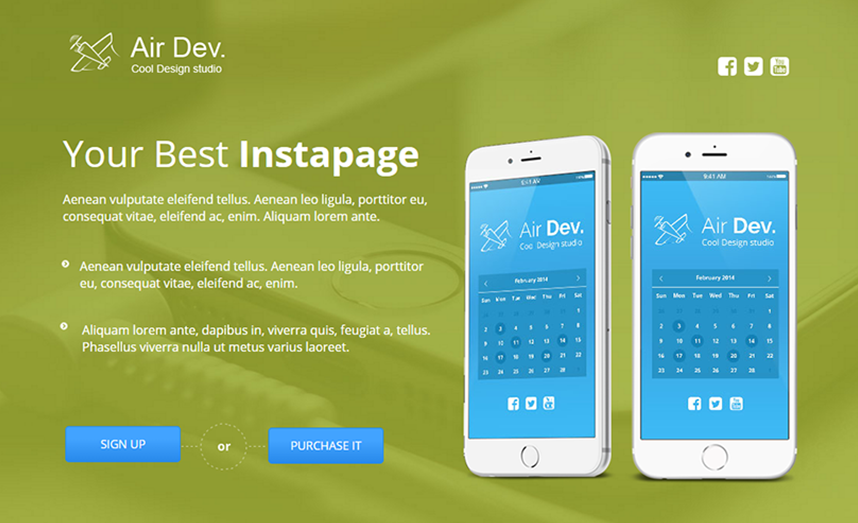 Landing Page Template With Lot Of Dynamic Features