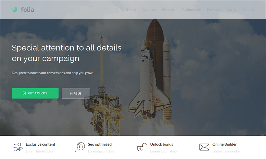 Landing Pages Pack With Page Builder