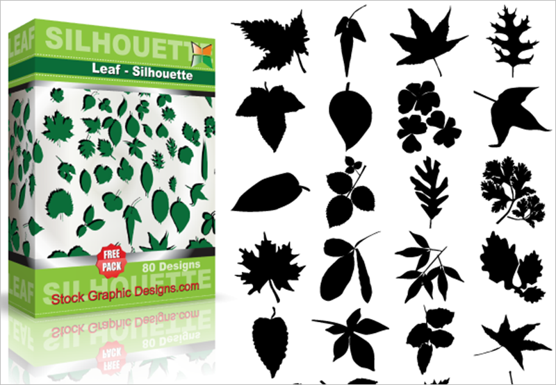 Leaf Free vector & Brush Pack