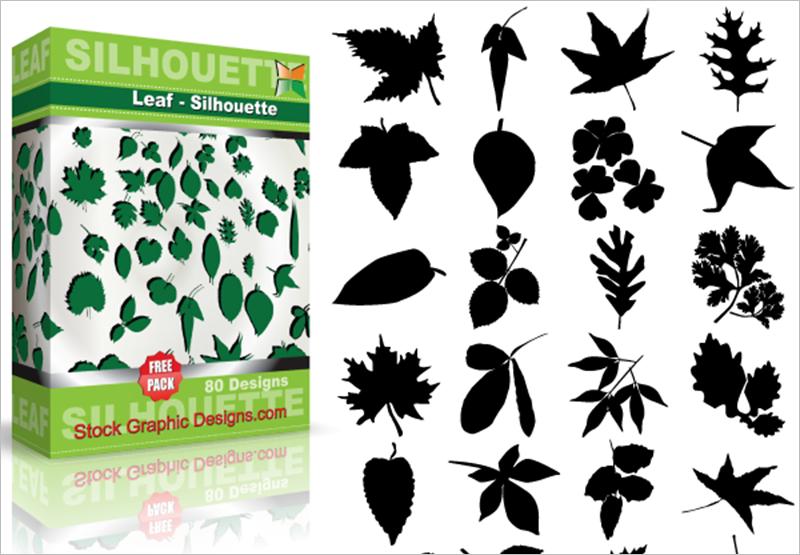Leaf Free vector & Brush Pack