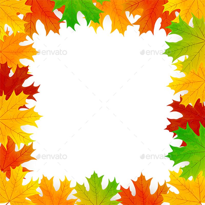 Leaves For Frame Template