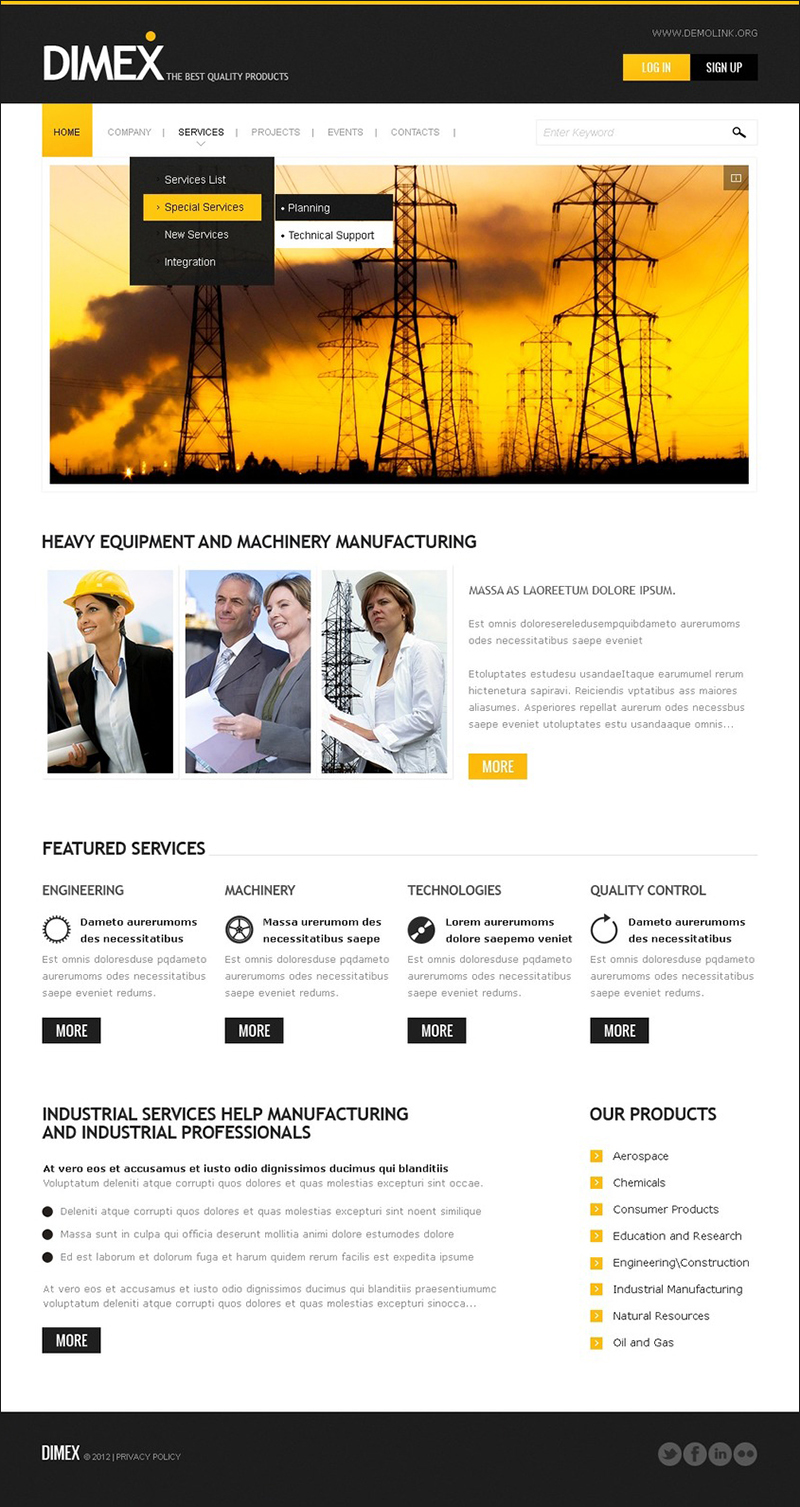 Lighting & Electricity Drupal Template