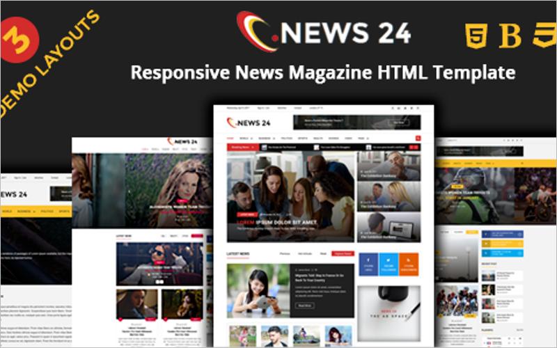 Magazine Responsive HTML Template