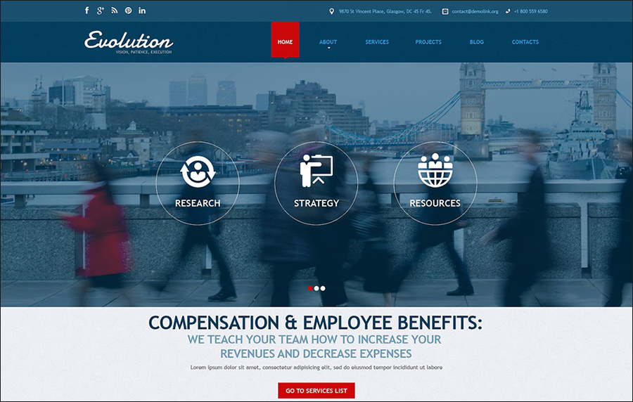 Management Services Parallax Joomla Template