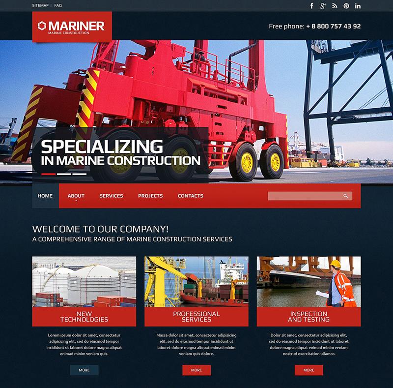 Marine Construction Website Template