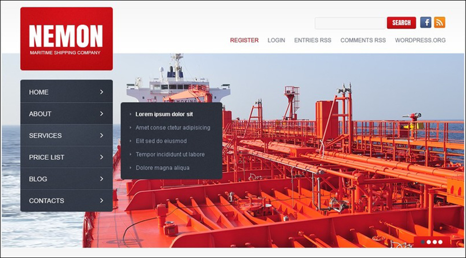 Maritime WordPress Theme