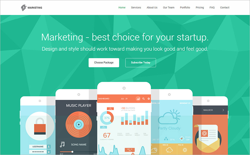 Marketing Startup Landing Page Template