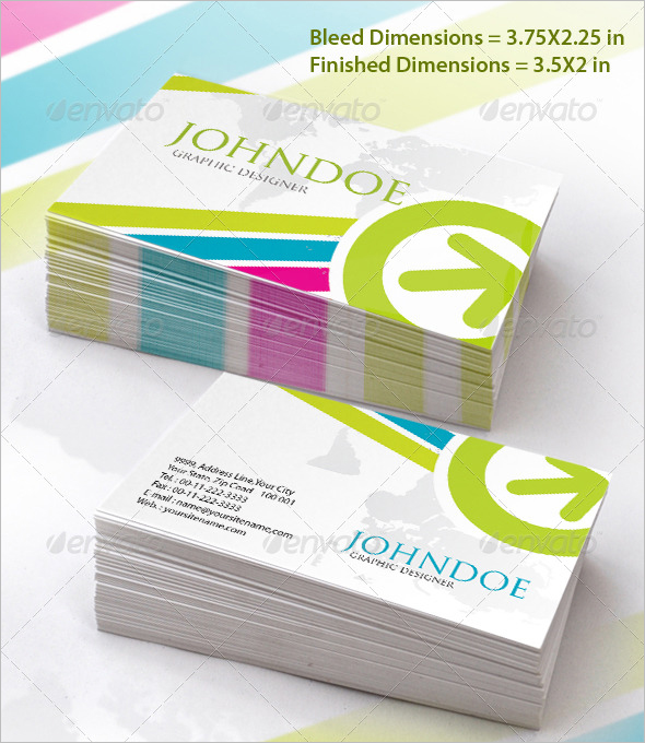 Marketing Stylish Business Card Set