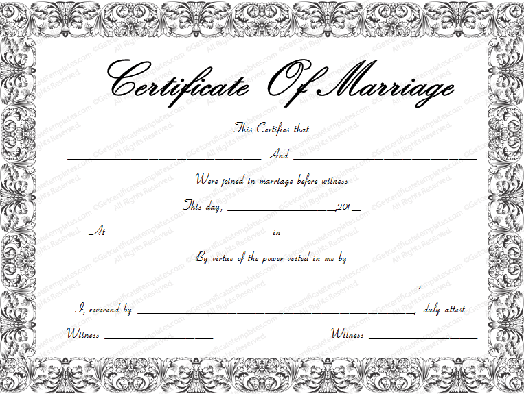 Free printable marriage certificate hatchurbanskript free printable marriage certificate yelopaper Images