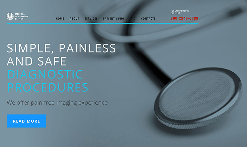 Medical Diagnostic Center Website Template