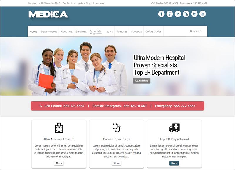 Medical & Doctor Joomla Template