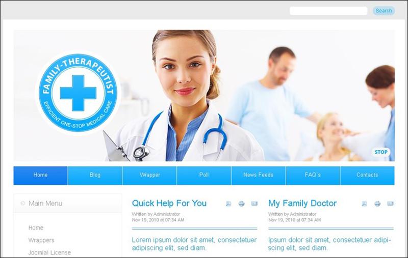 Medical Joomla Template