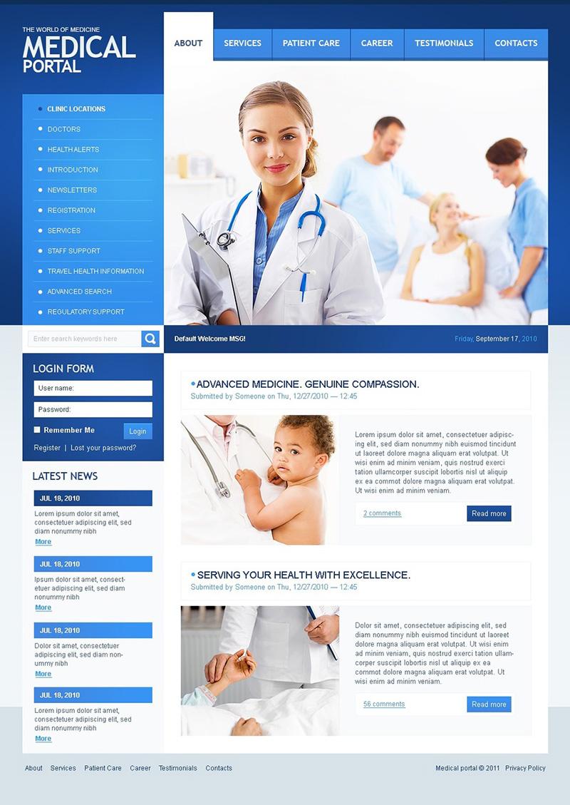 Medical Portal Drupal Theme