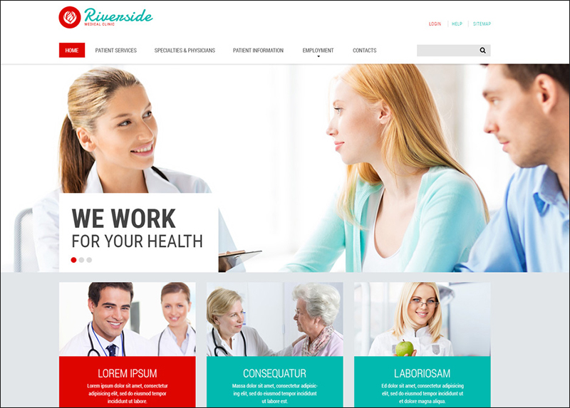 Medical Services HTML Website Template