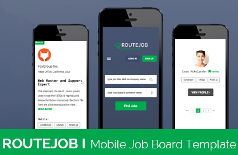 Mobile Job Portal HTML Template