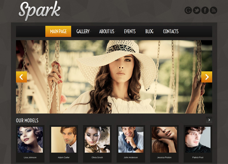 Model Agency WP Template