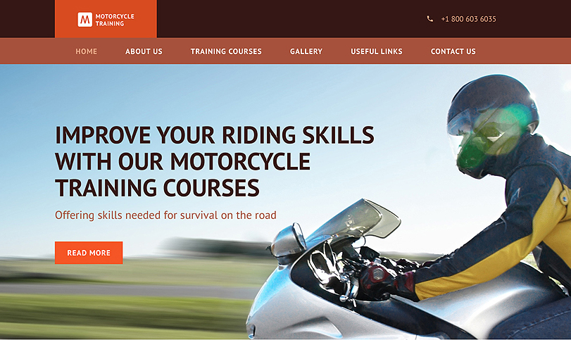 Motorcycle Training HTML Template